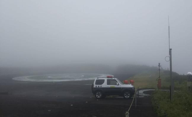 視界不良のヘリポート